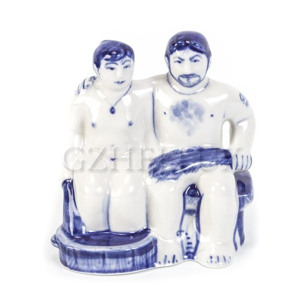 Скульптура «Гжельская Банька» №1