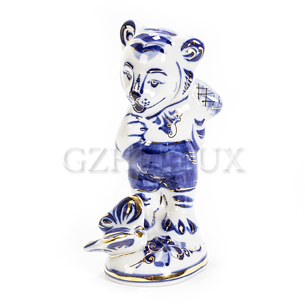 Скульптура «Тигр с бабочкой»