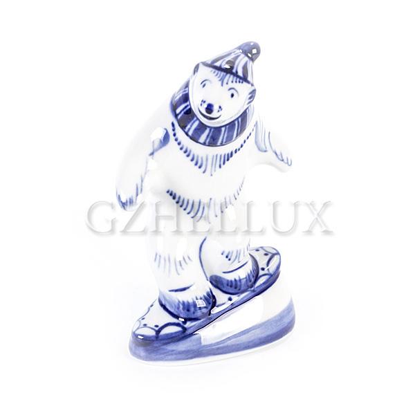 Скульптура «Медведь-сноубордист»