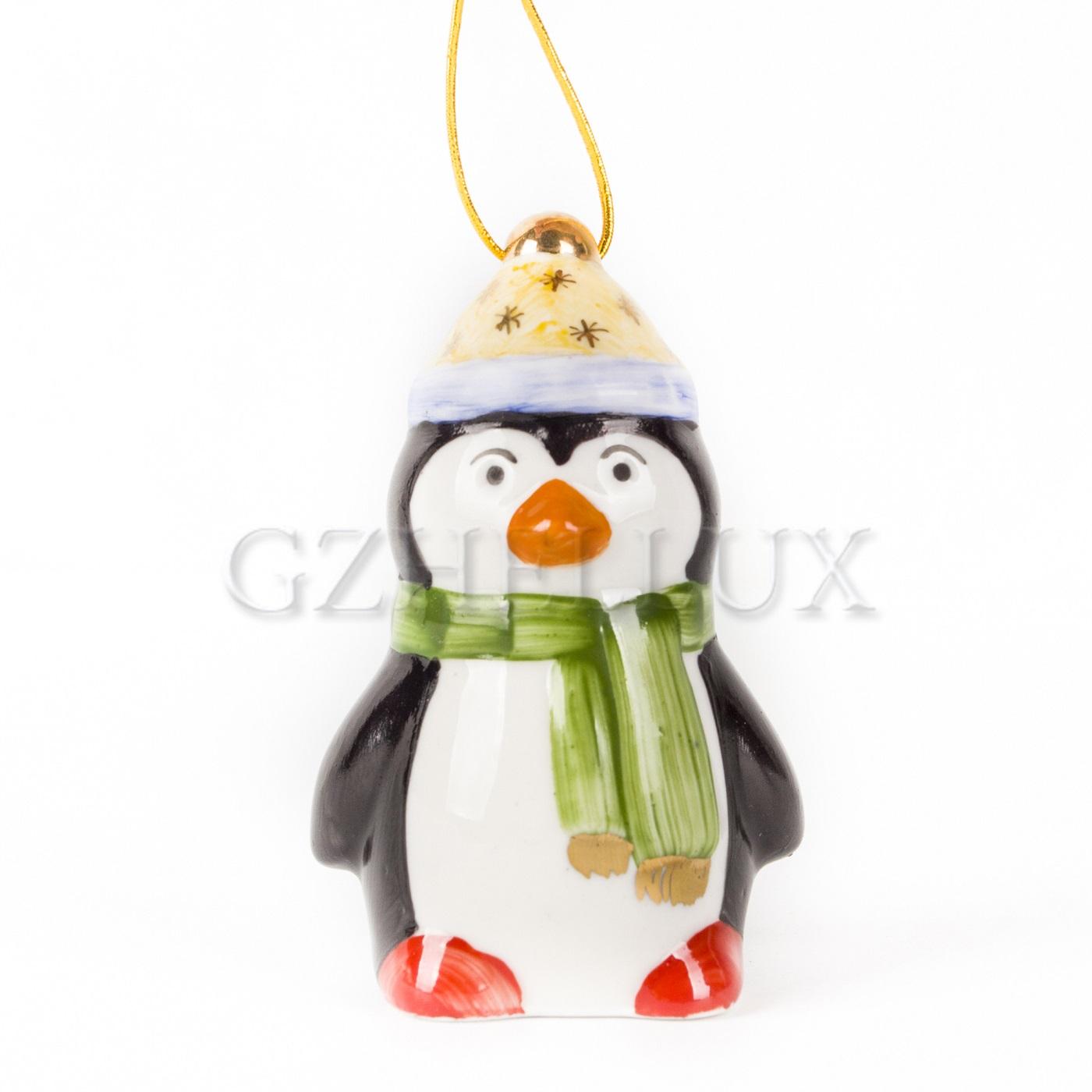 Ёлочная Игрушка «Пингвин» малый в красках