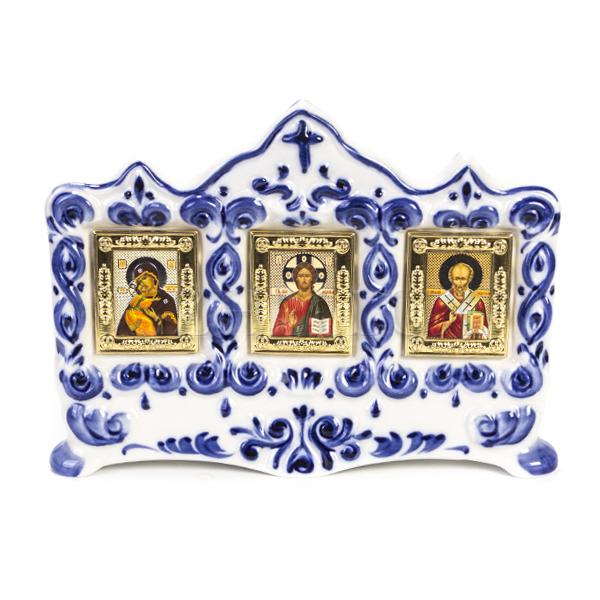 Киот «3 Иконы» настольный