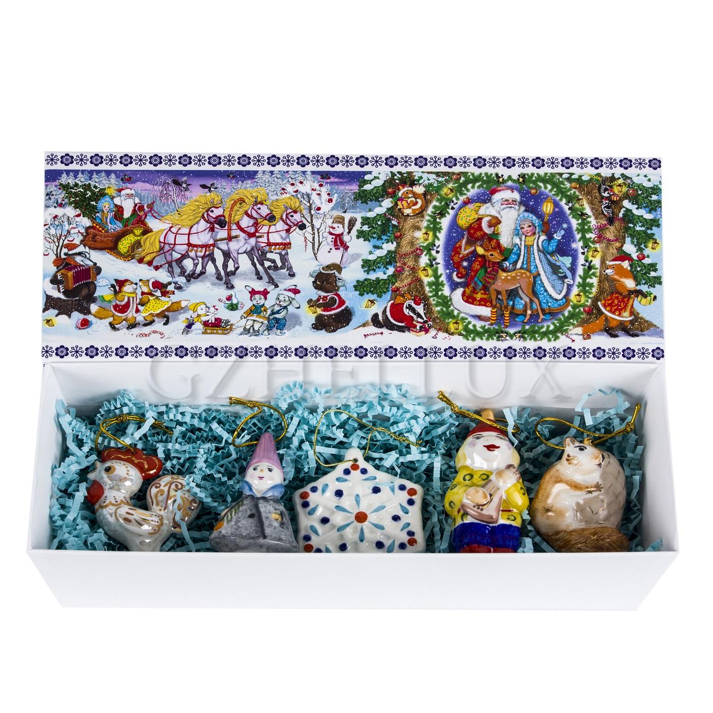 Набор ёлочных игрушек «Сказочный» в красках