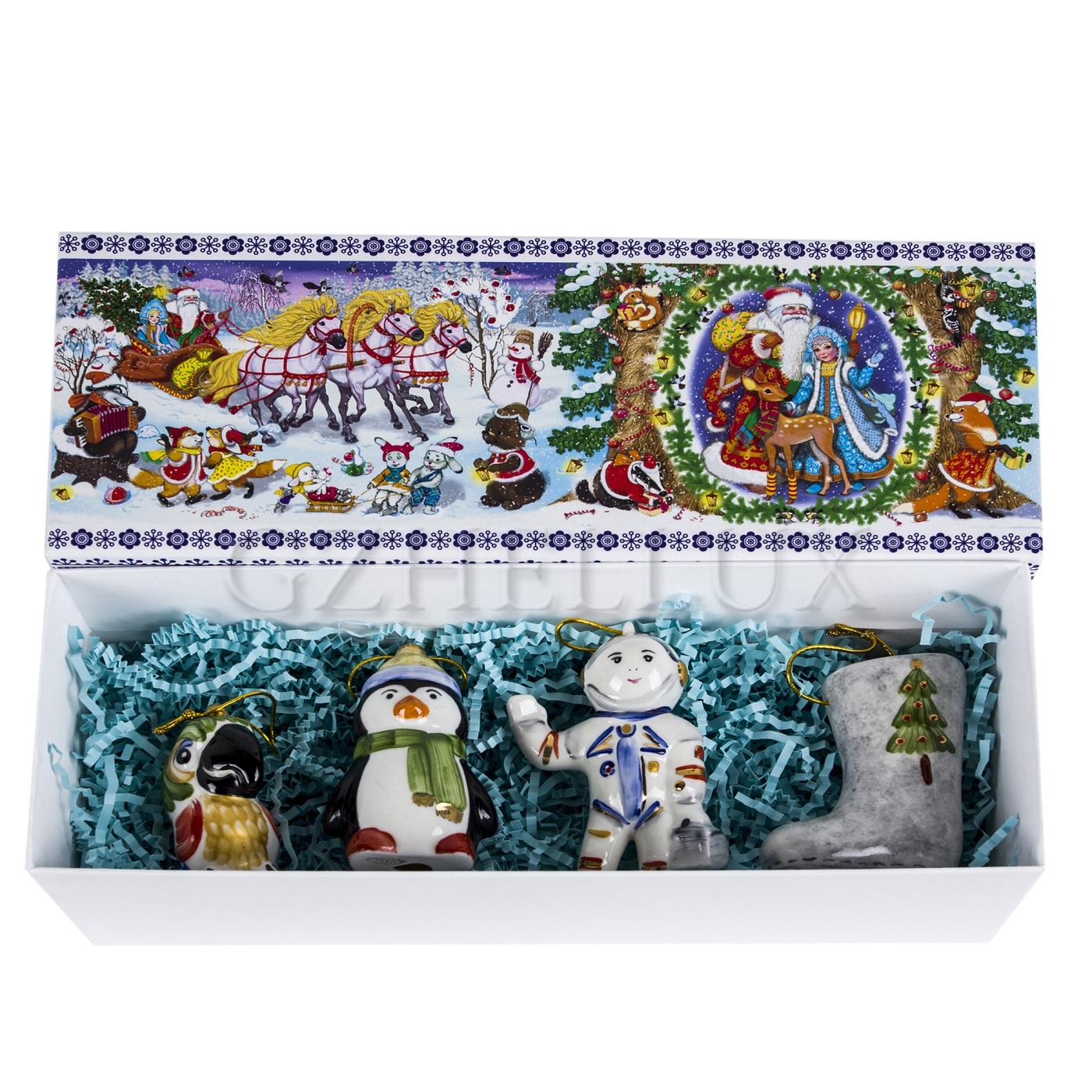 Набор ёлочных игрушек «Сувенирный» в красках