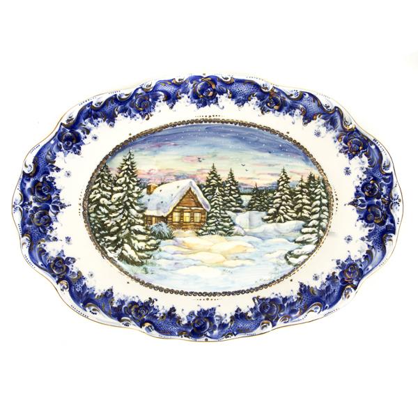 Поднос декоративный «Зимняя сказка»