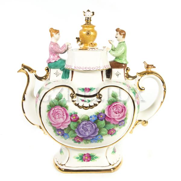 Чайник «Чаепитие» в красках