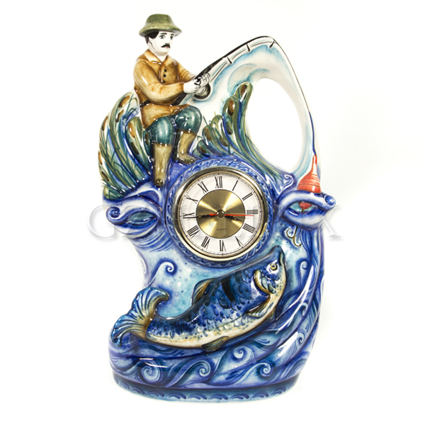 Часы «Рыбалка» в красках