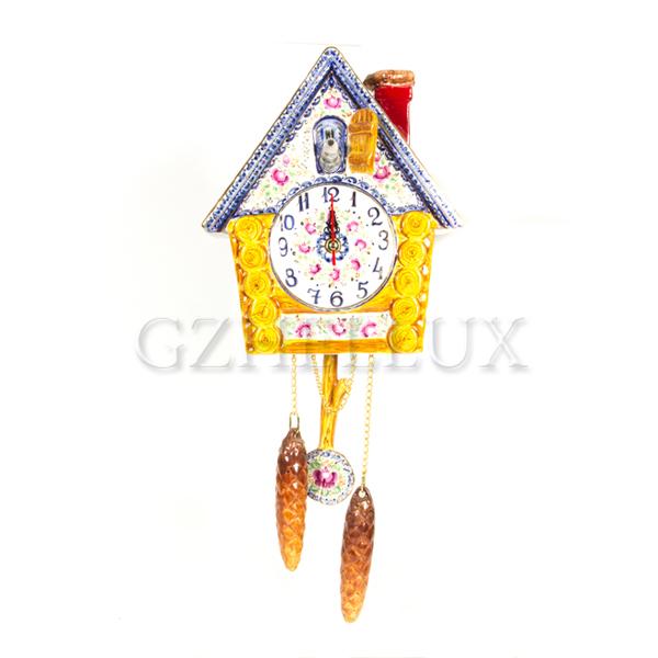 Часы «Ворона» в красках