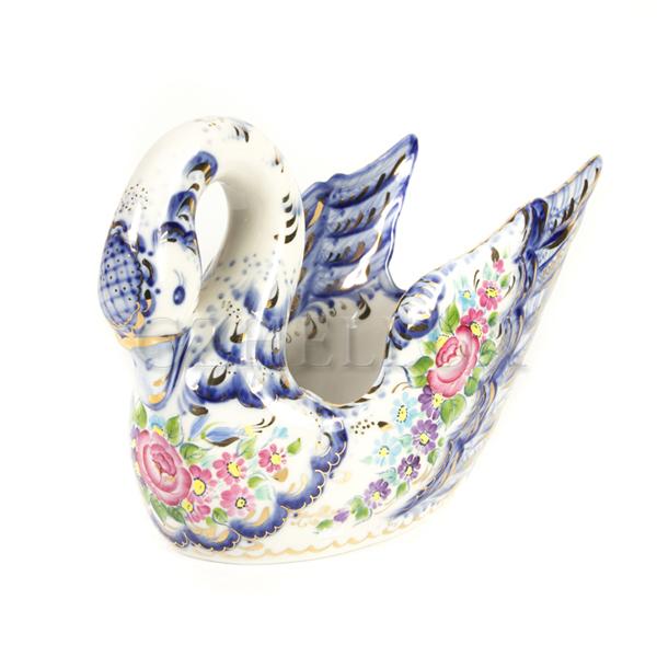 Конфетница «Лебедушка» в красках