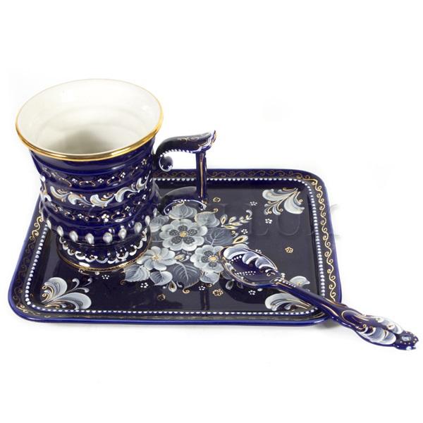Набор чайный «Сказка» (глухой кобальт)