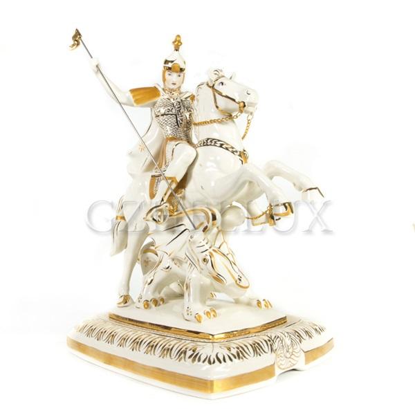 Скульптура «Георгий Победоносец» в золоте