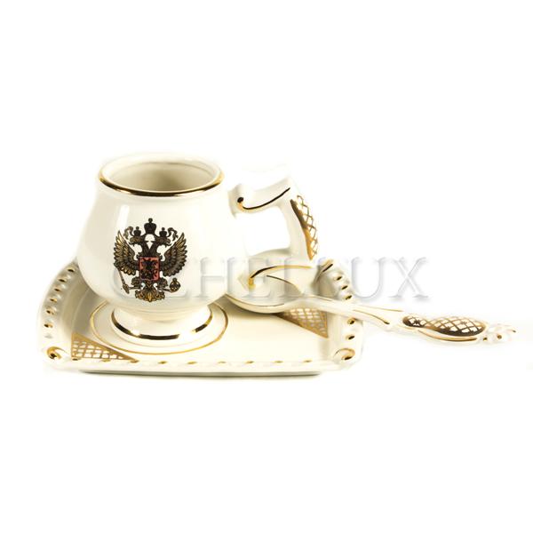 Набор кофейный «Гербовый» (белый)