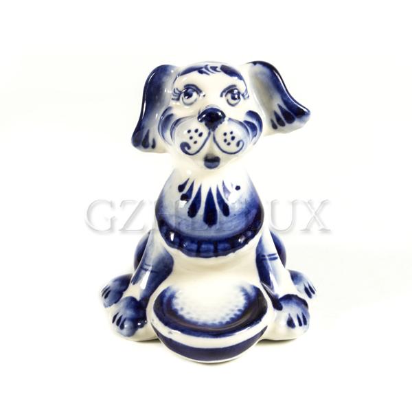Скульптура «Собака с миской»