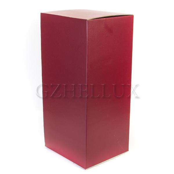 Коробка Гофра бордовая
