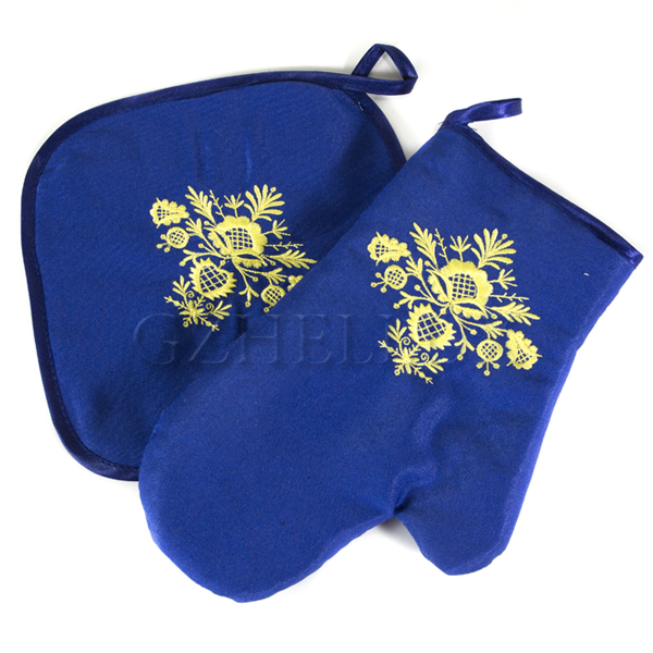 Кухонный набор – рукавица и прихватка (синие)