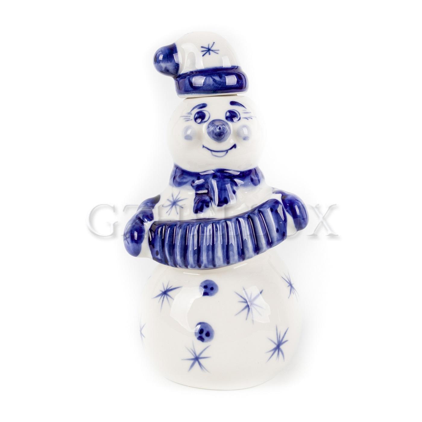 Штоф «Снеговик-гармонист»