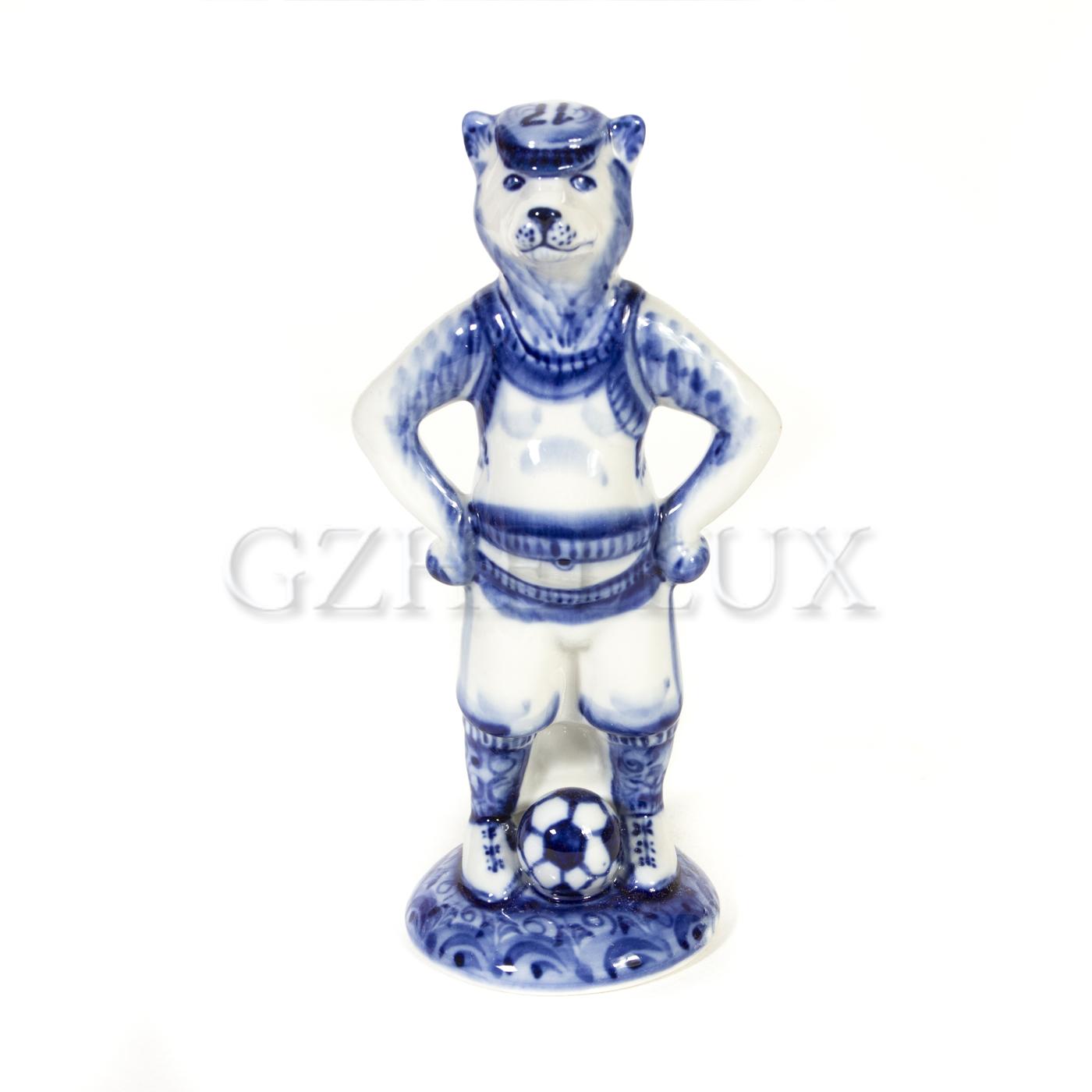 Скульптура «Волк Забивака» (символ ЧМ 2018)