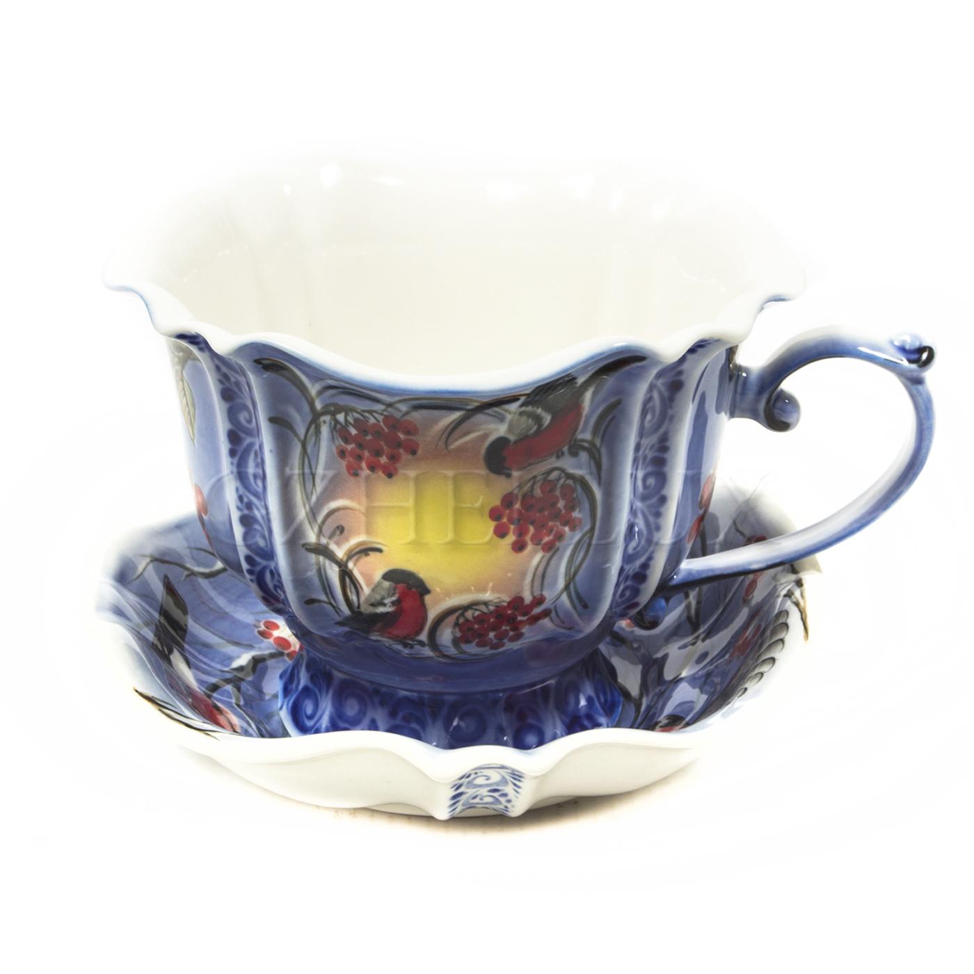 Чайная пара «Рябина» в красках