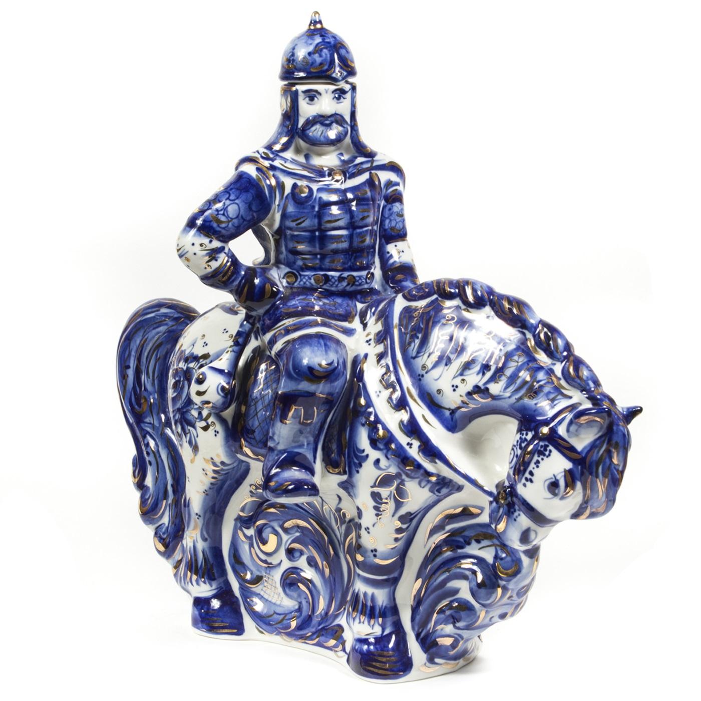 Штоф «Воин на коне» в золоте