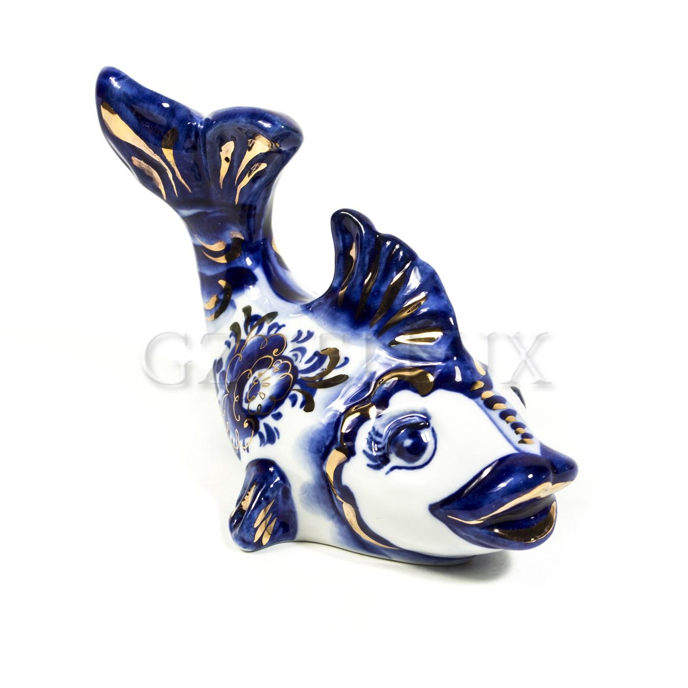 Скульптура «Золотая Рыбка» в золоте