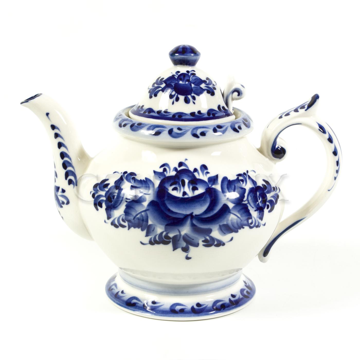 Чайник «Гжель» с ситечком