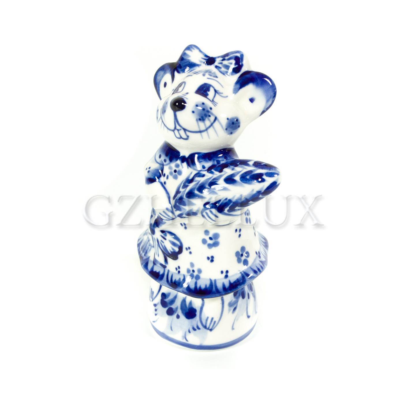 Скульптура «Мышь с колоском»