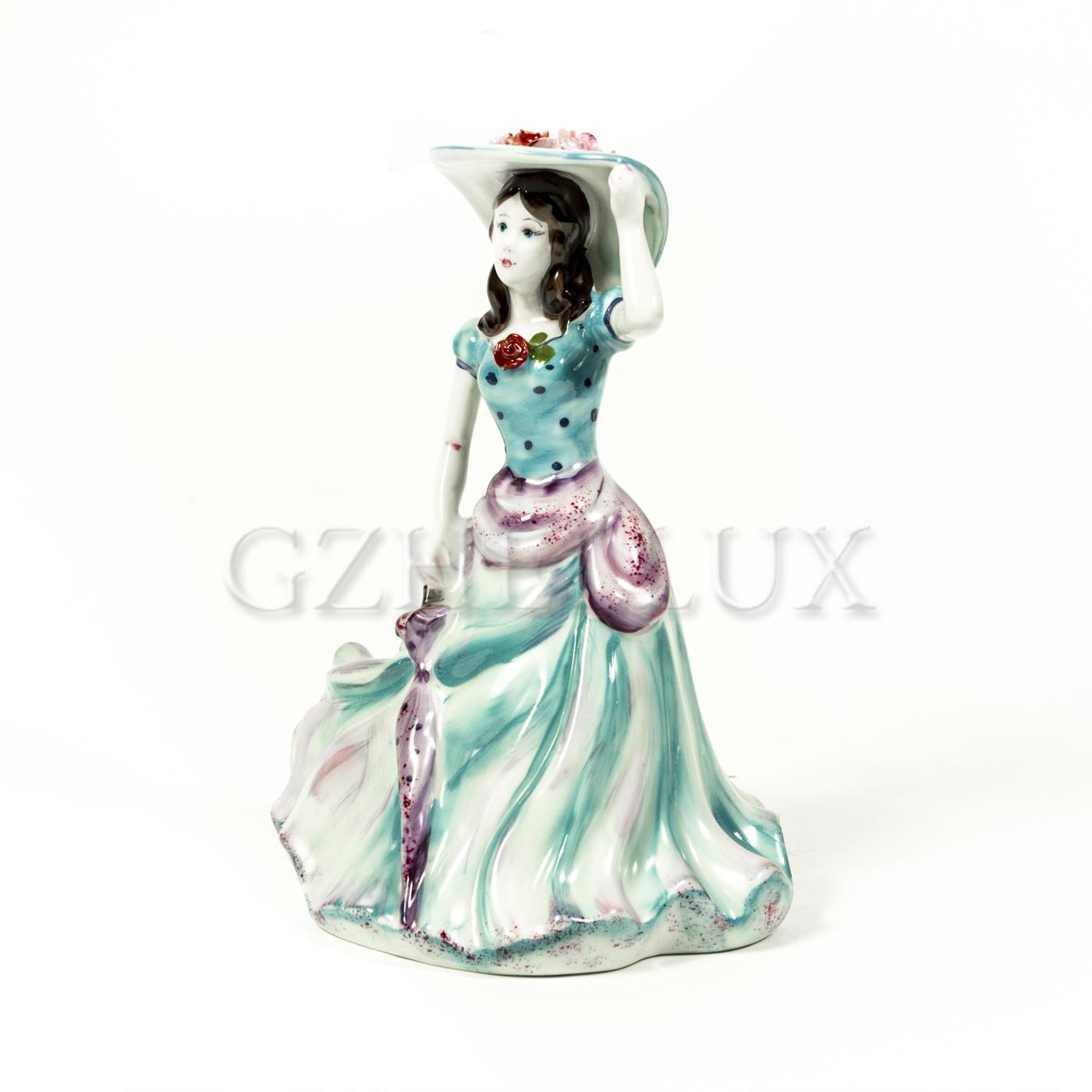 Колокольчик «Дама с зонтиком» в красках