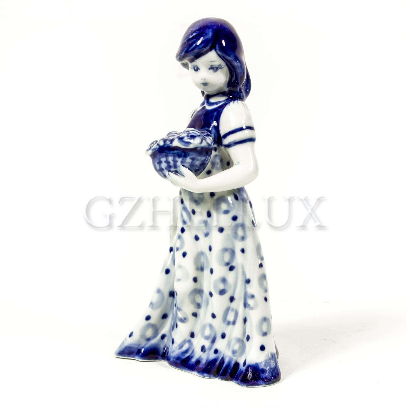 Колокольчик «Девушка с корзинкой»