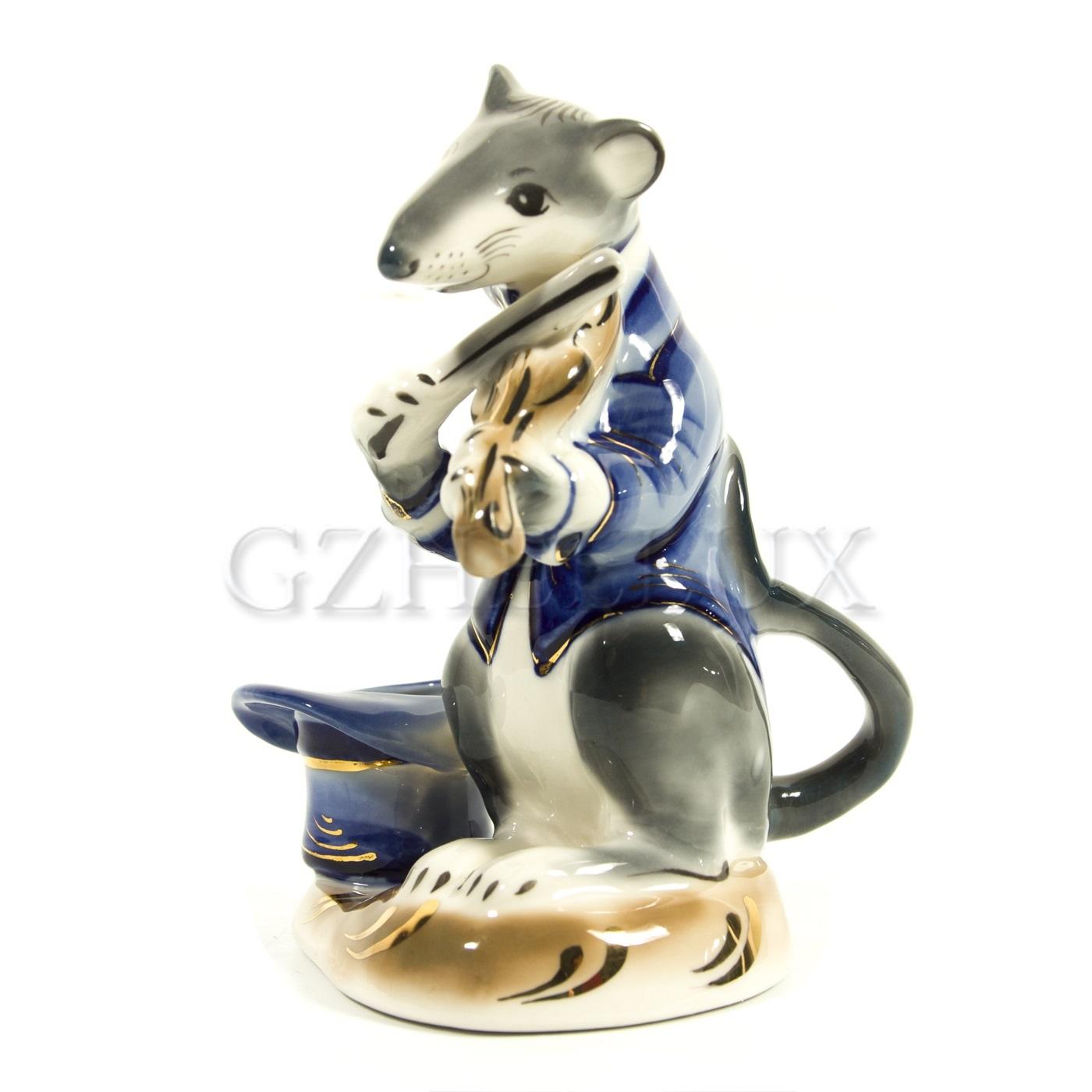 Подсвечник «Крыса со скрипкой»