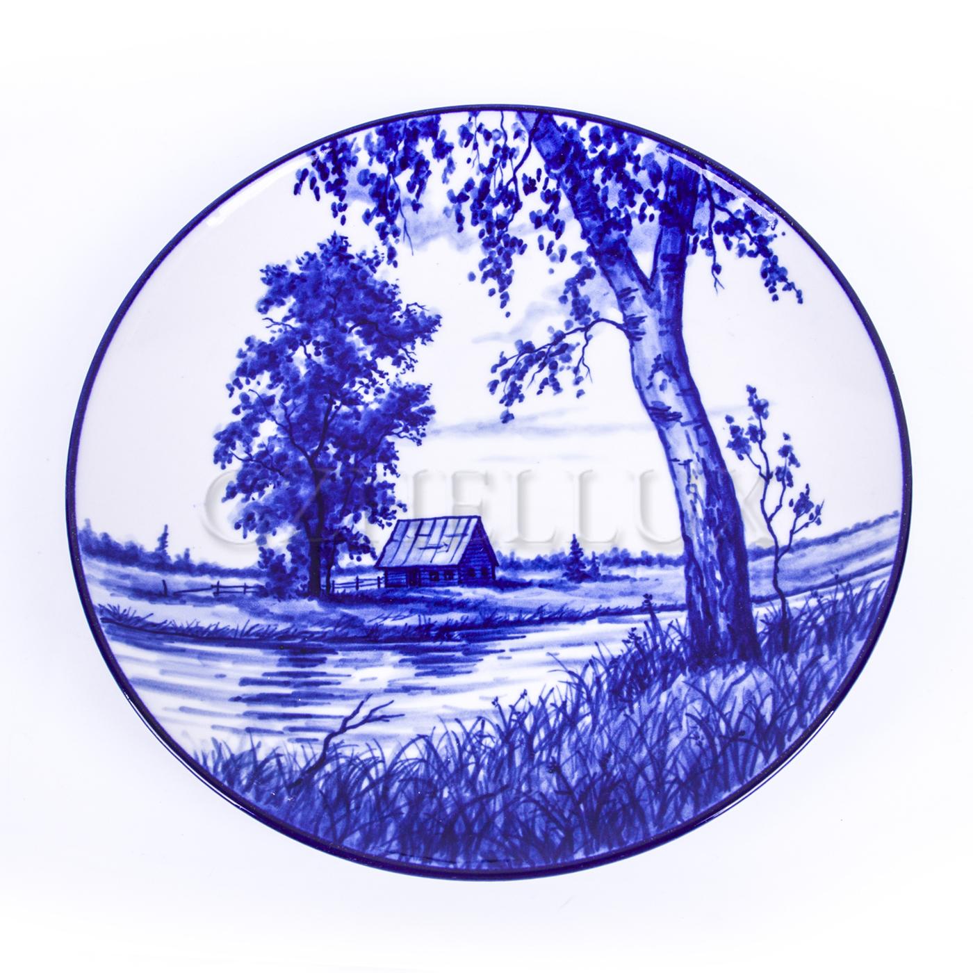 Тарелка декоративная «У реки»