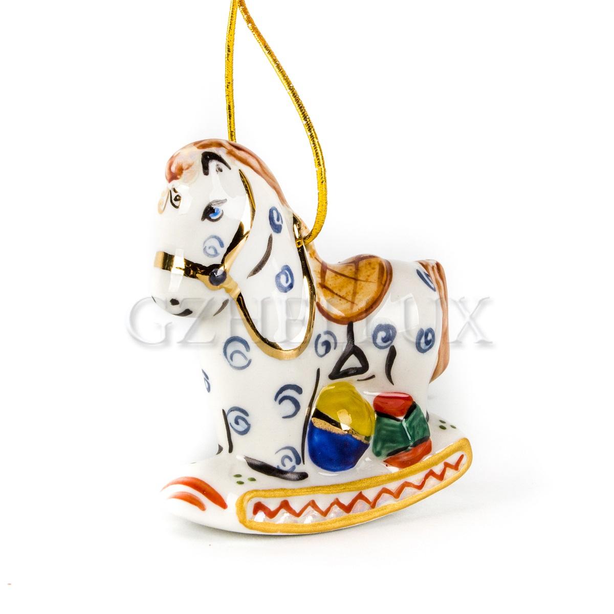 Ёлочная Игрушка «Лошадка» в красках