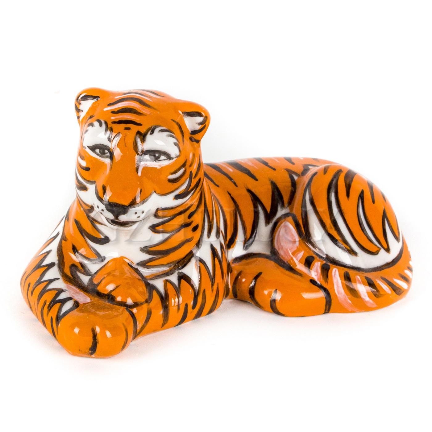 Скульптура «Тигр Вожак» в красках