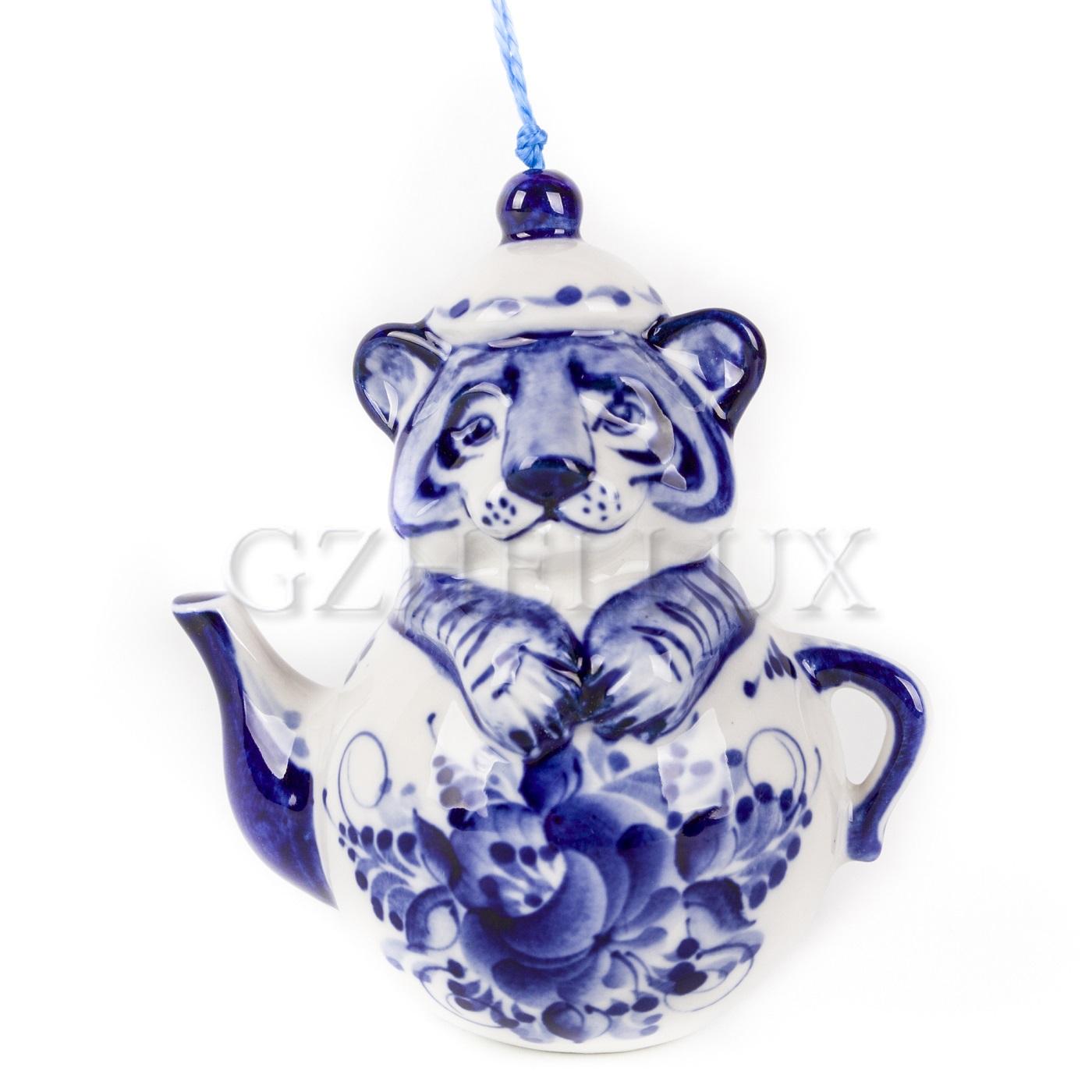 Ёлочная Игрушка «Тигр в чайнике»