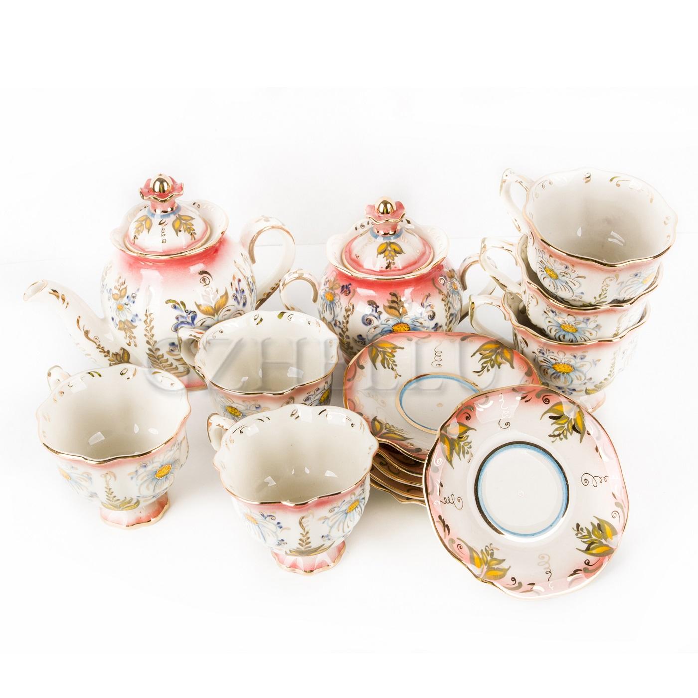 Сервиз чайный «Ромашки» в красках