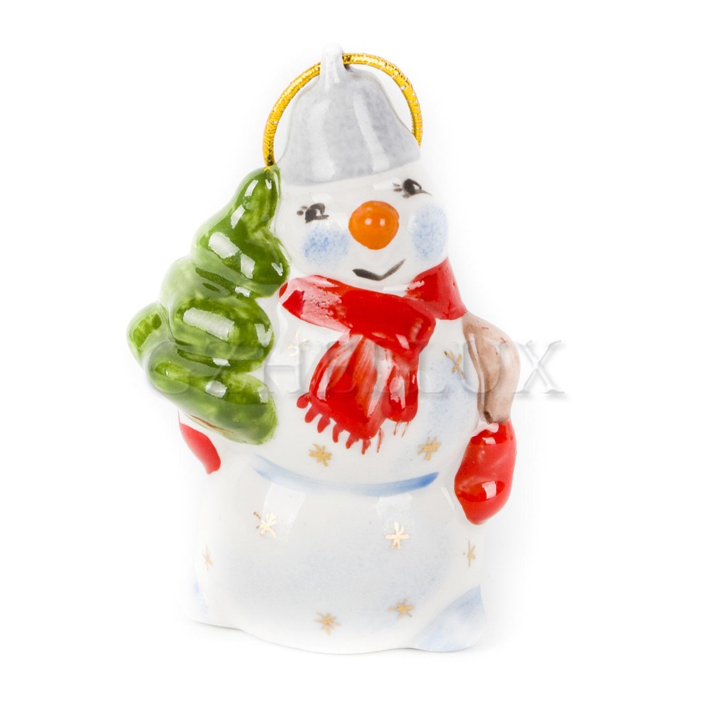 Ёлочная Игрушка «Снеговик» в красках