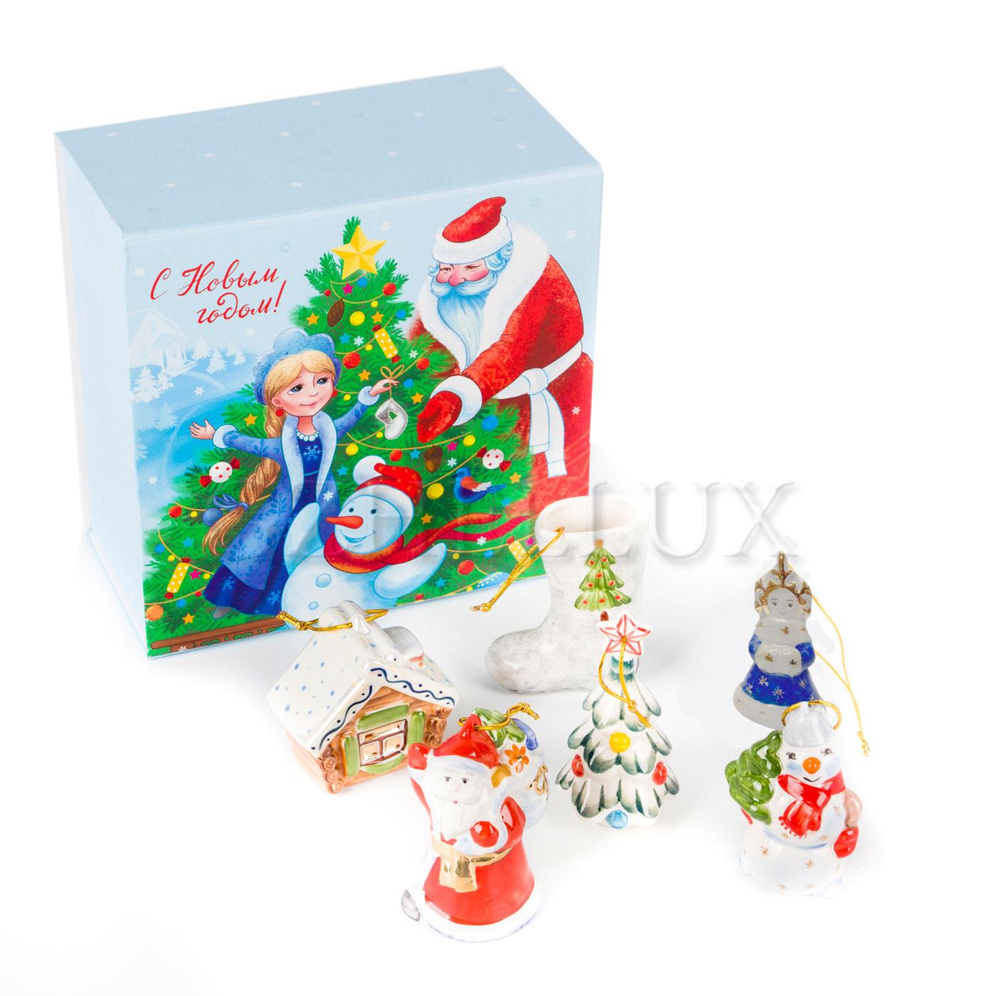 Набор ёлочных игрушек «Новогодний» в красках