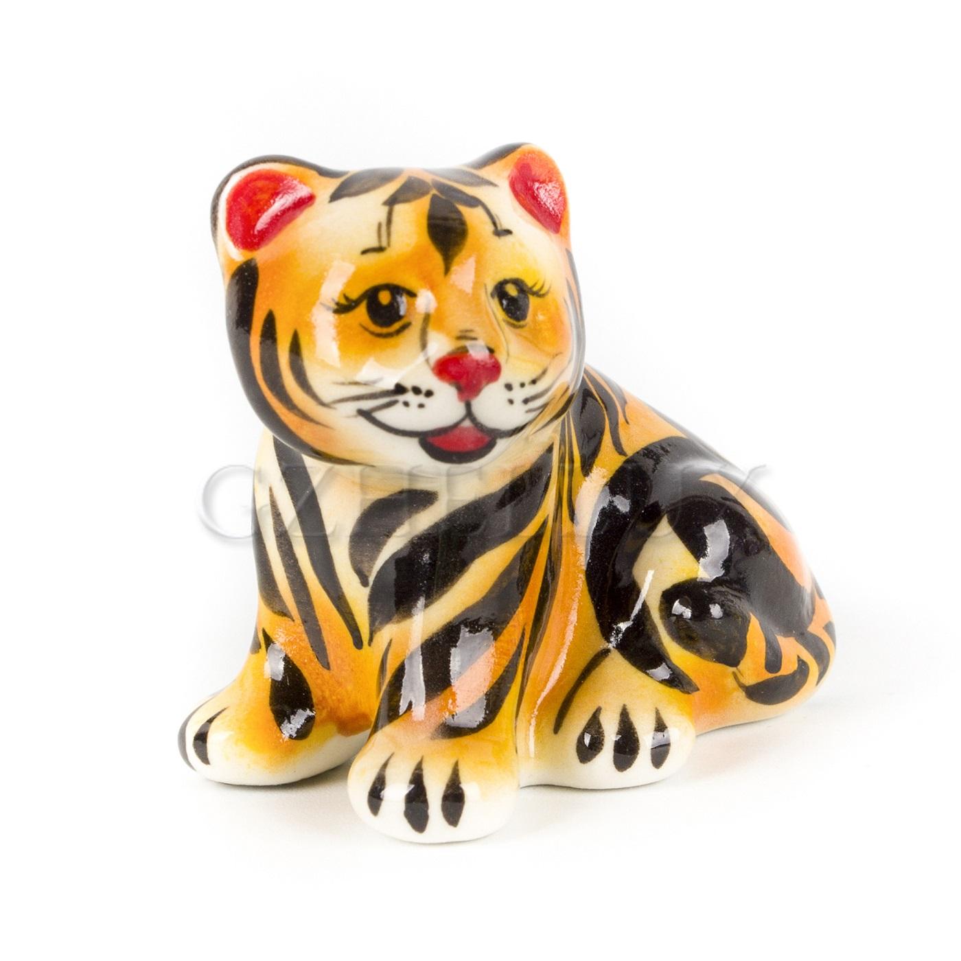 Скульптура «Тигр Коготок» в красках