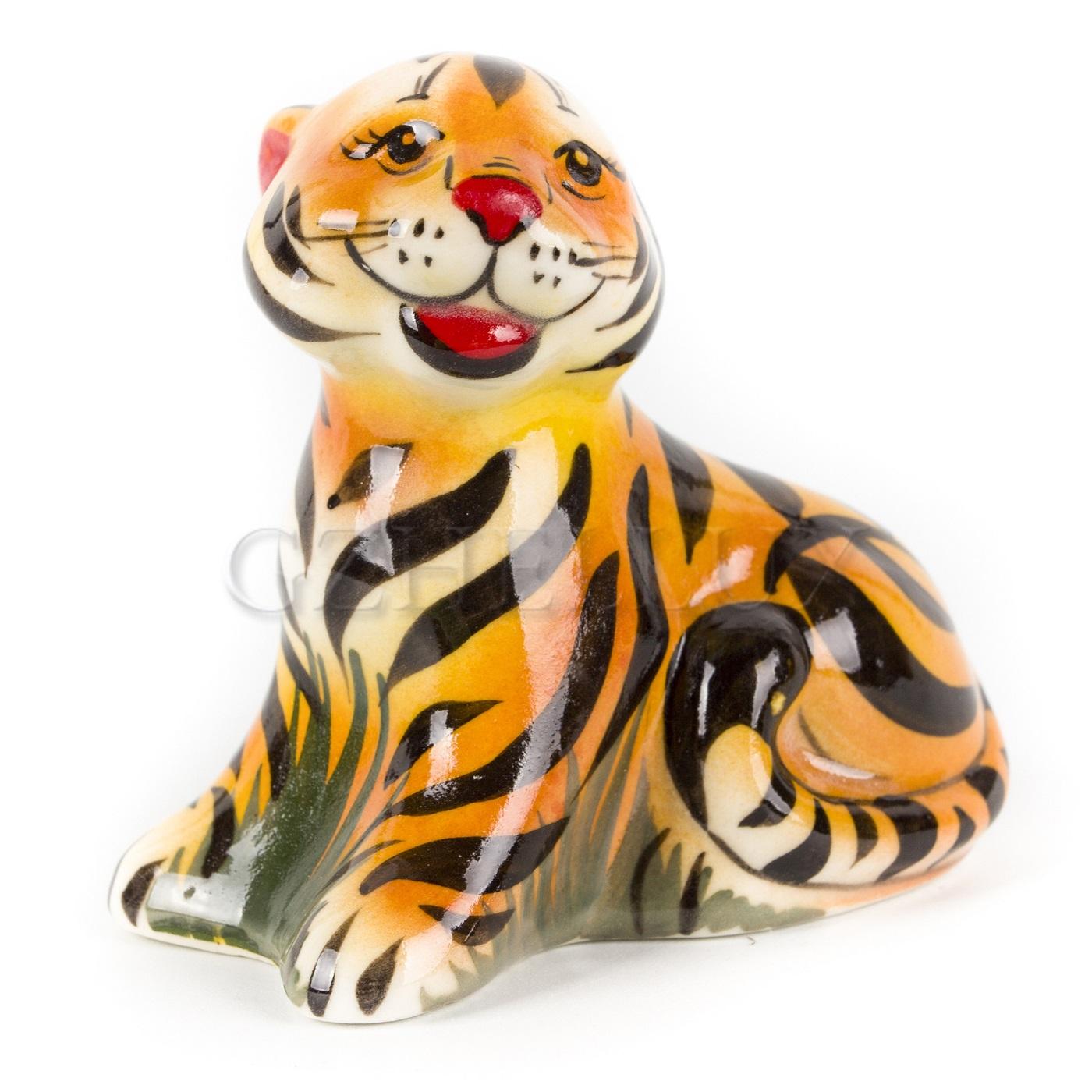 Скульптура «Тигр Полосатик» в красках