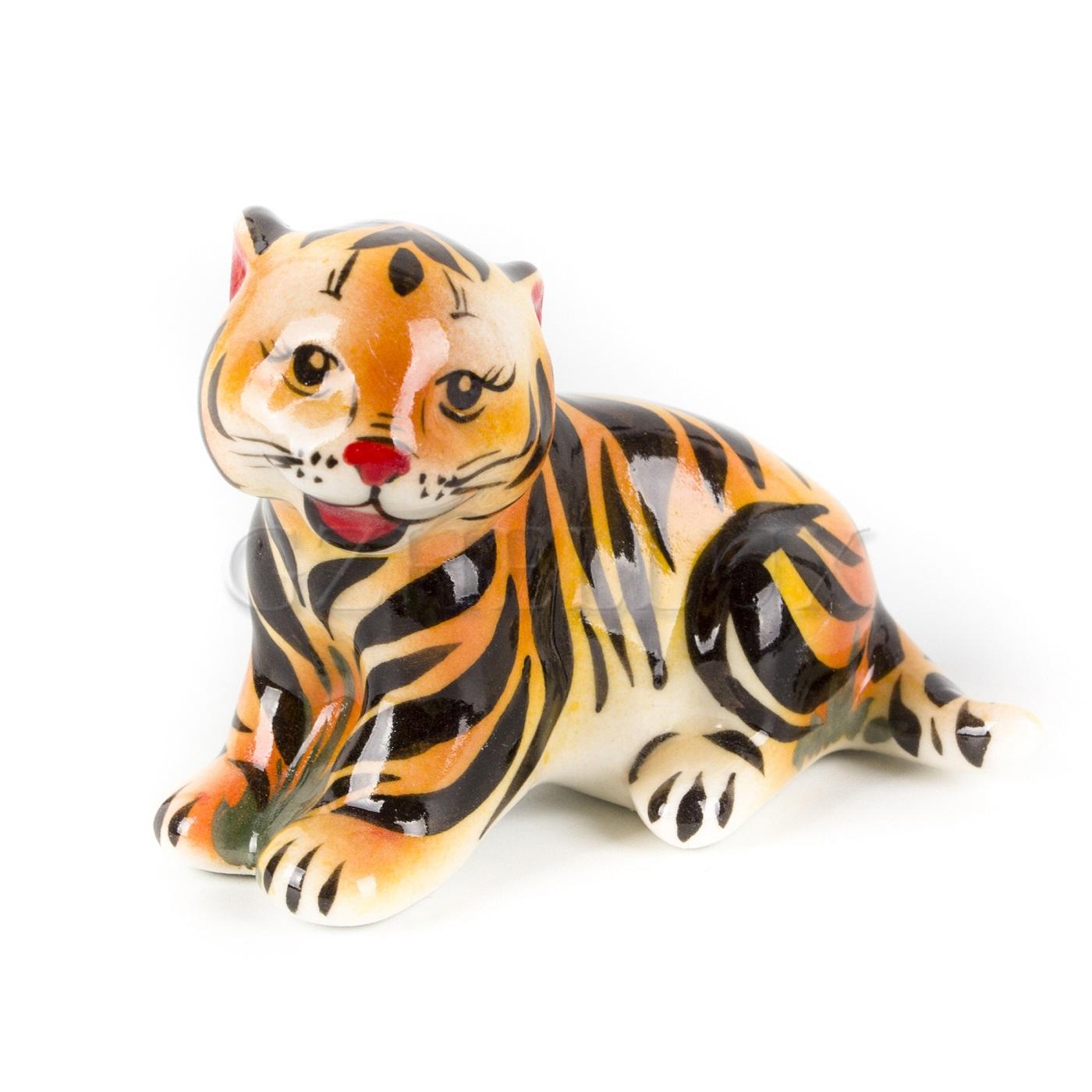 Скульптура «Тигр Симба» в красках
